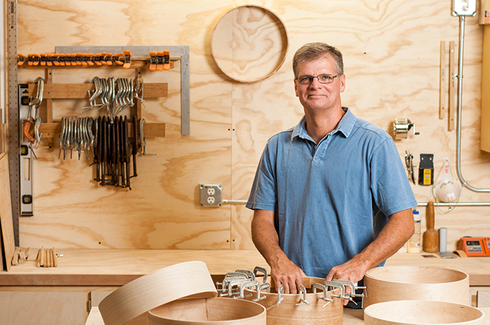 Bruce Hagwood, custom handmade drums maker and craftsman